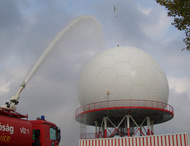 15m ATC Radome under the Rain Test (Budapest Airport)
